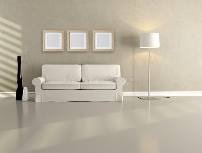 Sala de visitas minimalista ilustração do vetor