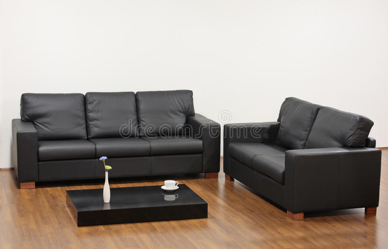 Sala de visitas minimalista moderna imagens de stock