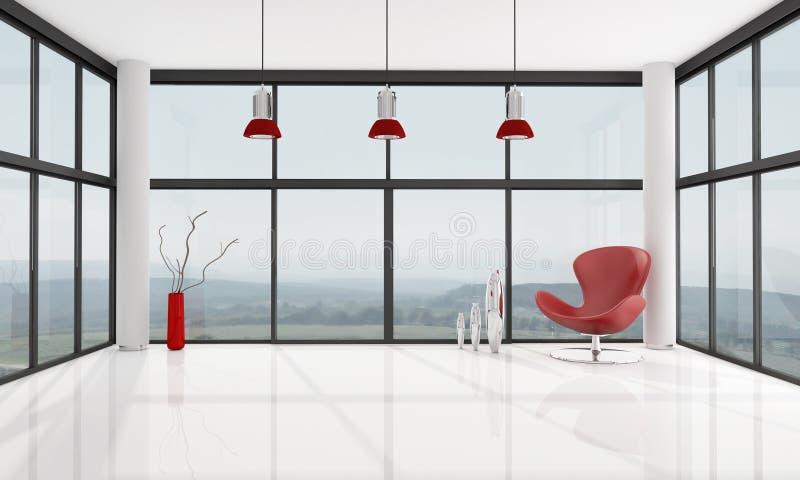 Sala de visitas minimalista vazia ilustração royalty free