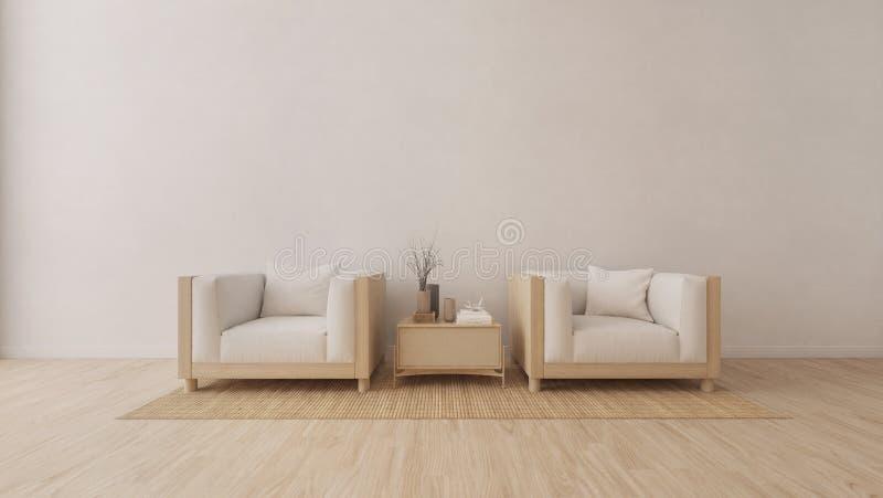 Sala de visitas moderna com poltrona ilustração stock