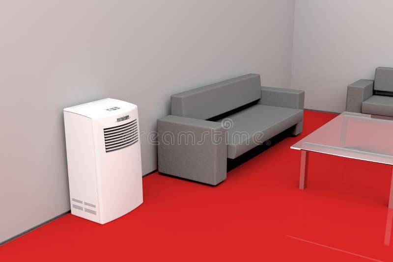 Sala de visitas moderna - conceito refrigerando ilustração stock