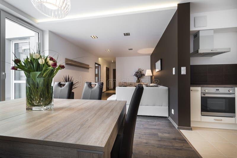 Sala de visitas moderna do design de interiores imagens de stock royalty free