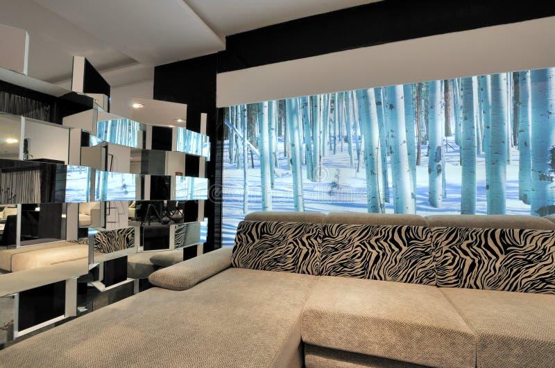 Sala de visitas moderna do estilo foto de stock royalty free