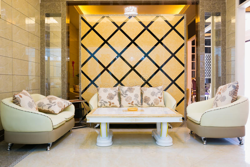 Sala de visitas moderna luxuosa fotos de stock
