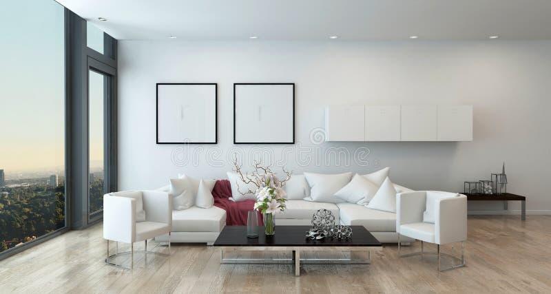 Sala de visitas moderna no condomínio alto da elevação ilustração stock