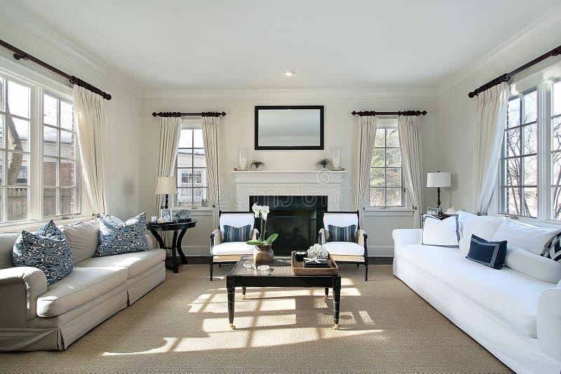 Sala de visitas na HOME luxuosa foto de stock