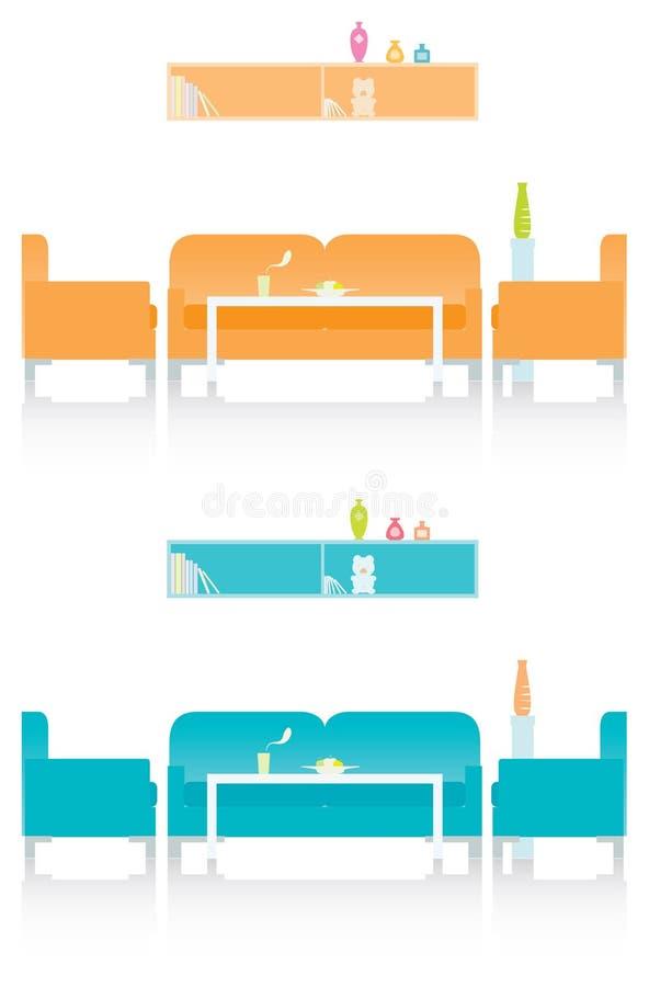 Sala de visitas ou sala de estar artística ilustração do vetor