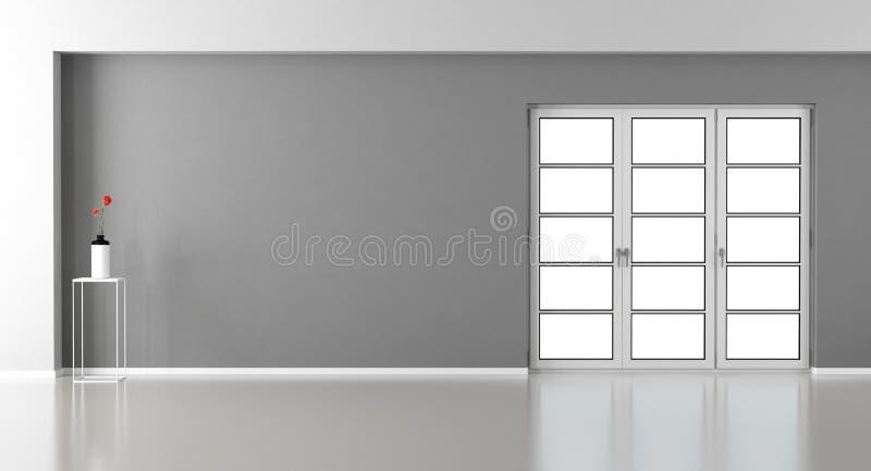 Sala de visitas vazia com janela ilustração stock