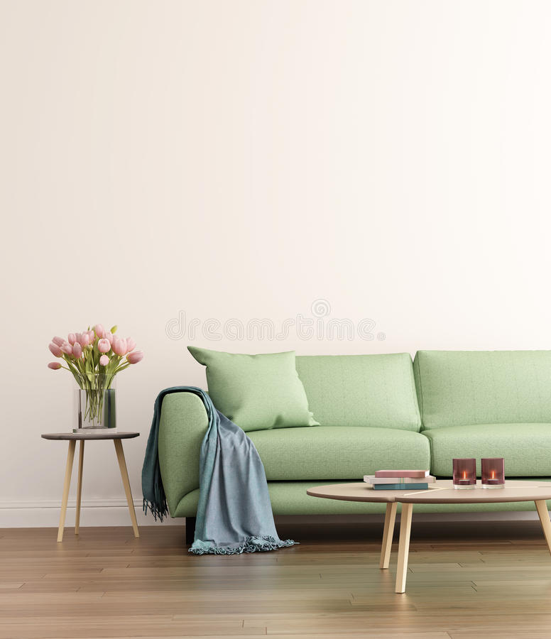 Sala de visitas verde contemporânea foto de stock royalty free