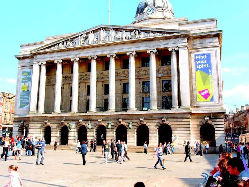 Sala del consiglio di Nottingham. fotografie stock libere da diritti