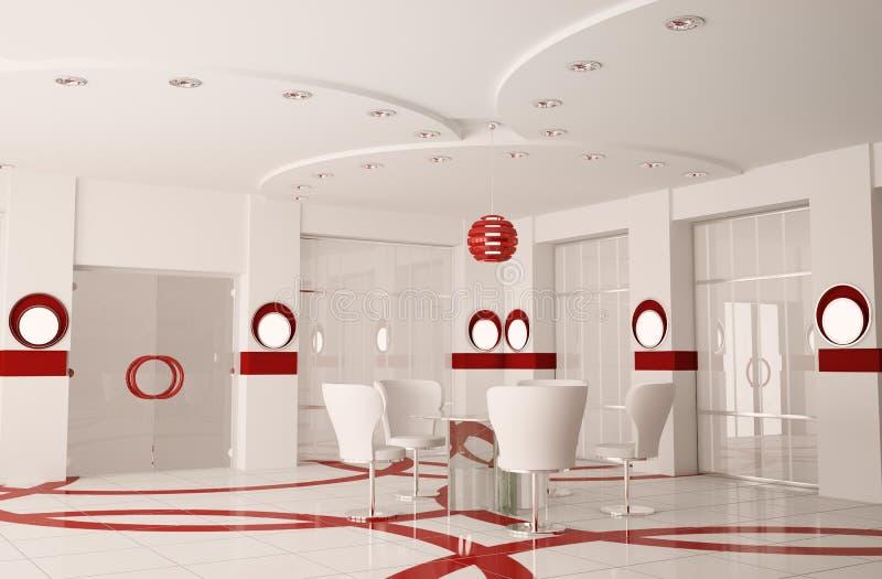 Sala del consiglio moderna 3d interno illustrazione di stock