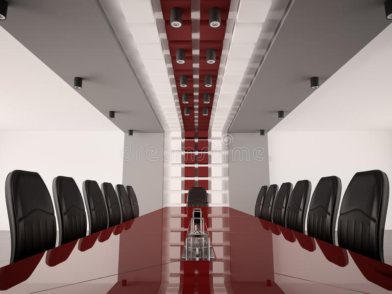 Sala del consiglio moderna 3d interno royalty illustrazione gratis