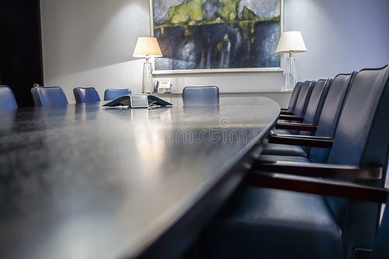 Sala del consiglio vuota fotografie stock
