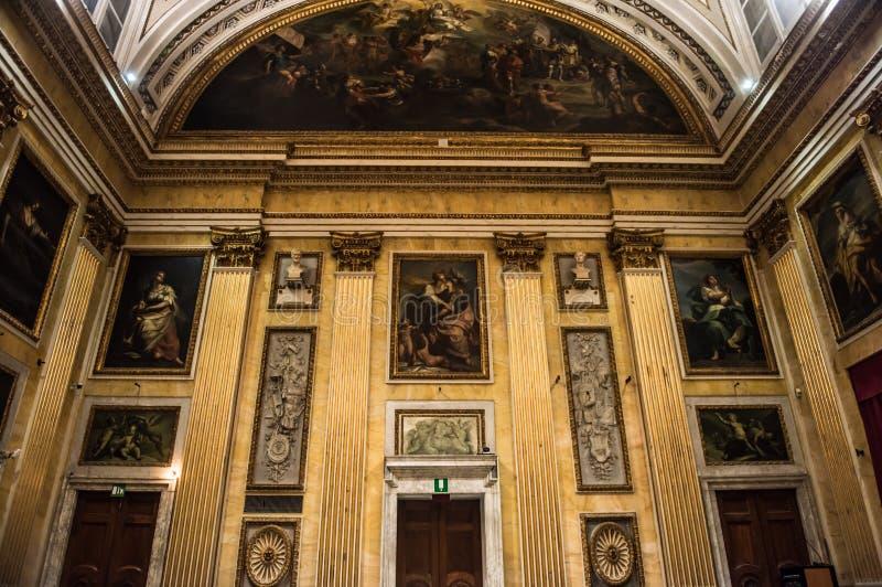 Sala del Minor Consiglio, Gênes photographie stock