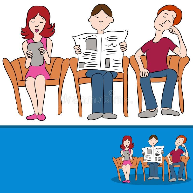 Sala di attesa illustrazione vettoriale