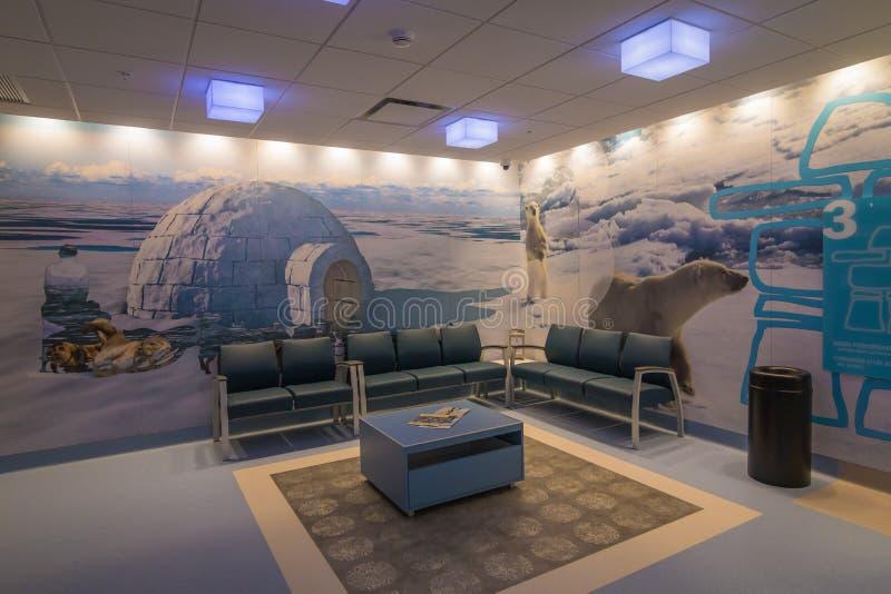 Sala di attesa moderna dell'ospedale immagini stock libere da diritti