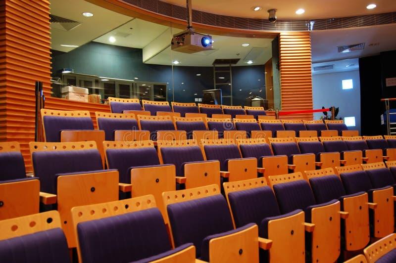 Sala di controllo di un teatro fotografia stock libera da diritti