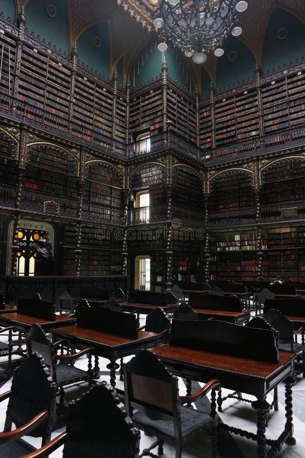 Sala di lettura portoghese reale - Rio de Janeiro immagine stock