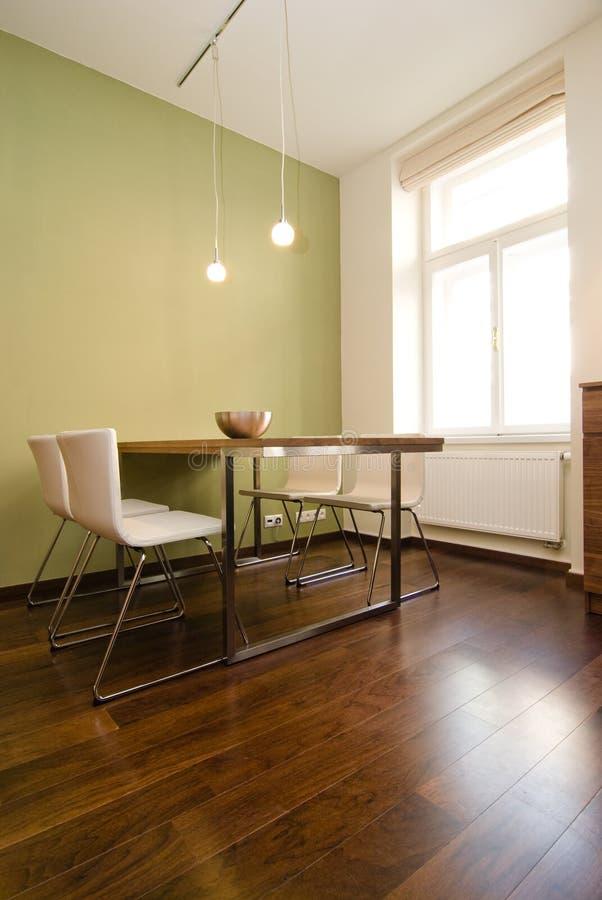 Sala dinning moderna foto de stock