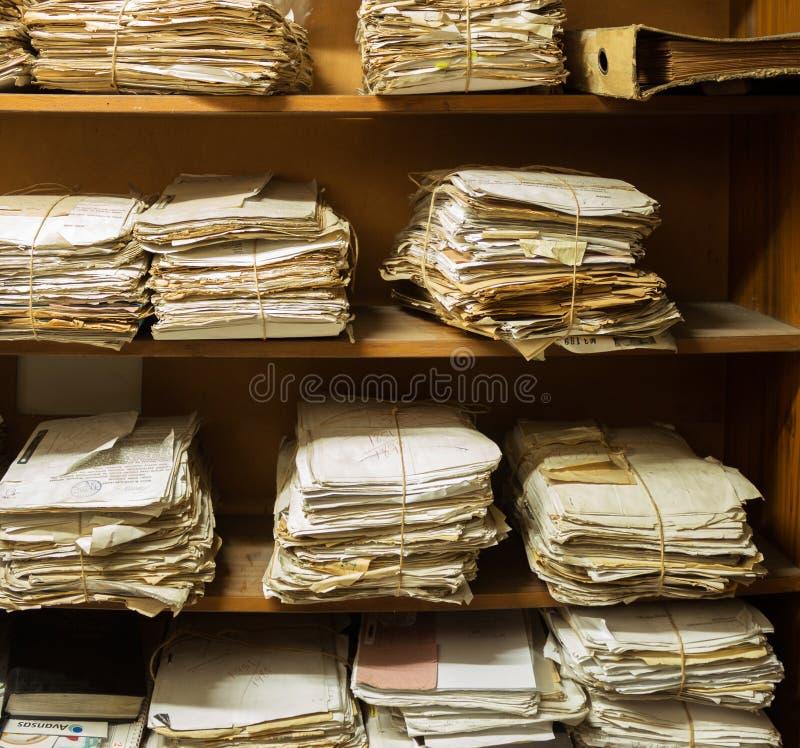 Sala do arquivo fotografia de stock