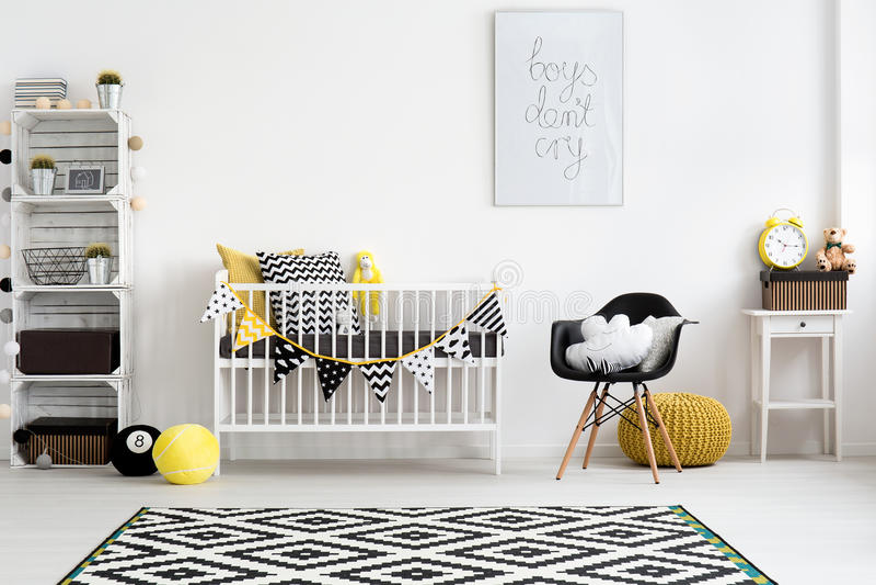 sala do Bem-pensamento-para fora para um bebê fotografia de stock royalty free