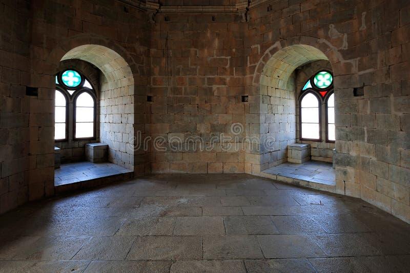 Sala do castelo antigo, Beja, Portugal fotos de stock