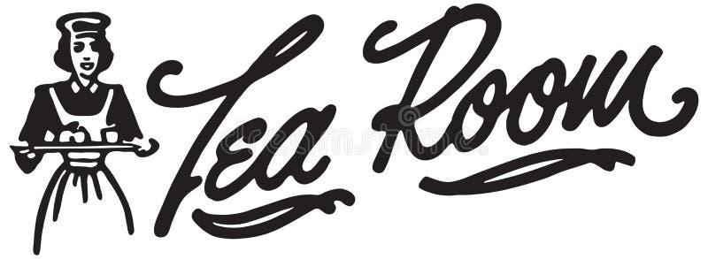 Sala 3 do chá ilustração royalty free