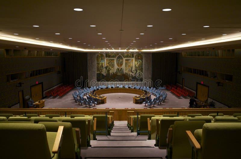 Sala do Conselho de Segurança das Nações Unidas fotos de stock