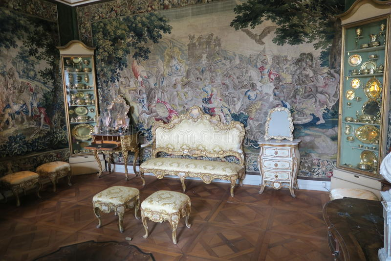 Sala do interior do renascimento imagens de stock