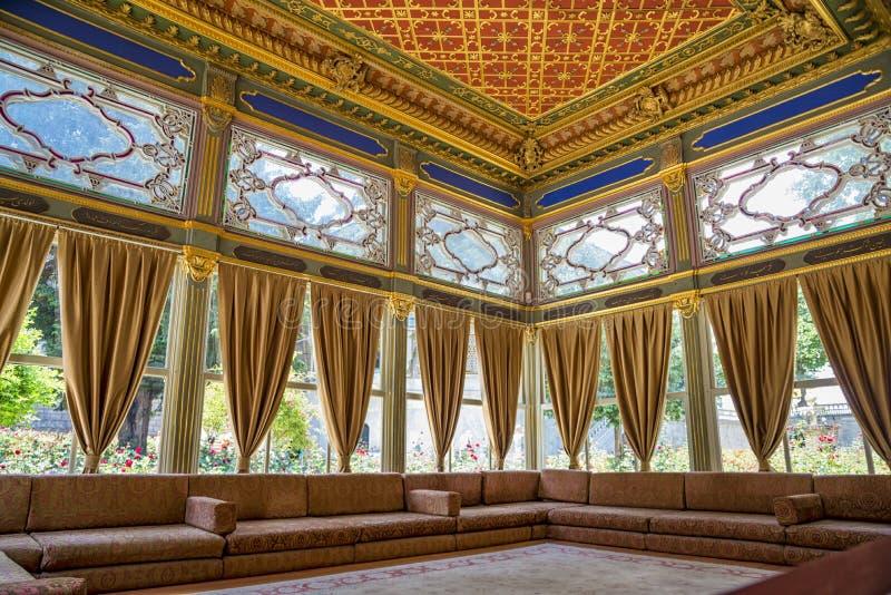 Sala do palácio de Topkapi fotografia de stock royalty free