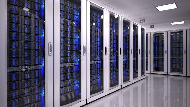 Sala do server no datacenter ilustração do vetor