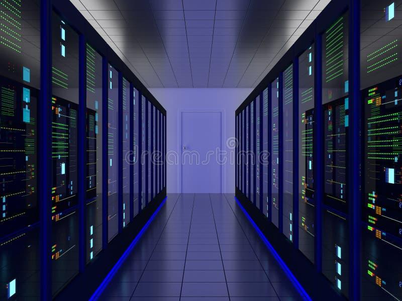 Sala do servidor ilustração do vetor