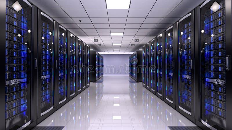 Sala do servidor ilustração stock