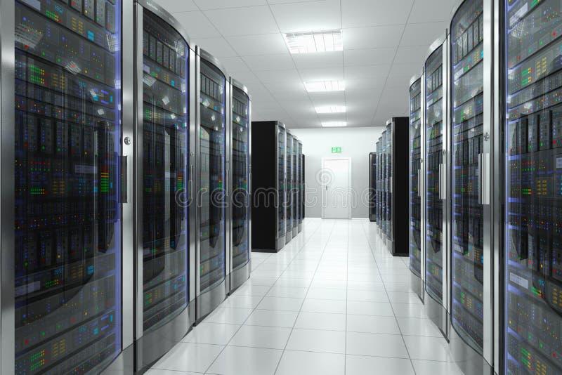Sala do servidor no datacenter ilustração royalty free