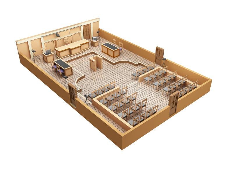 Sala do tribunal ilustração royalty free