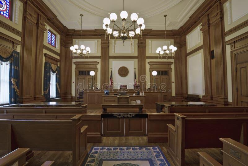 Sala do tribunal 3 do edifício histórico foto de stock