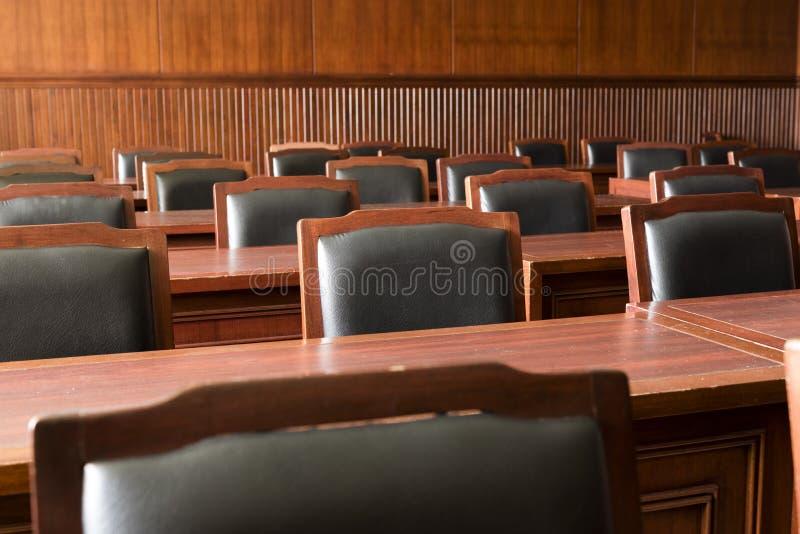 Sala do tribunal da magistratura fotografia de stock