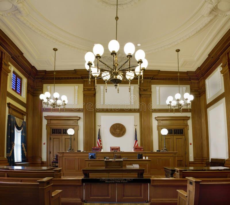 Sala do tribunal pioneira Portland Oregon do tribunal imagens de stock