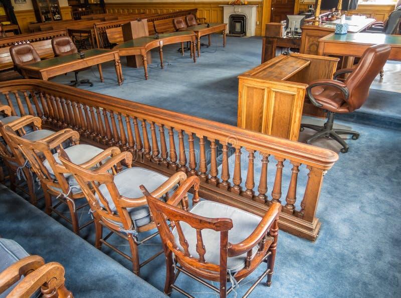 Sala do tribunal, tribunal de Storey County fotografia de stock
