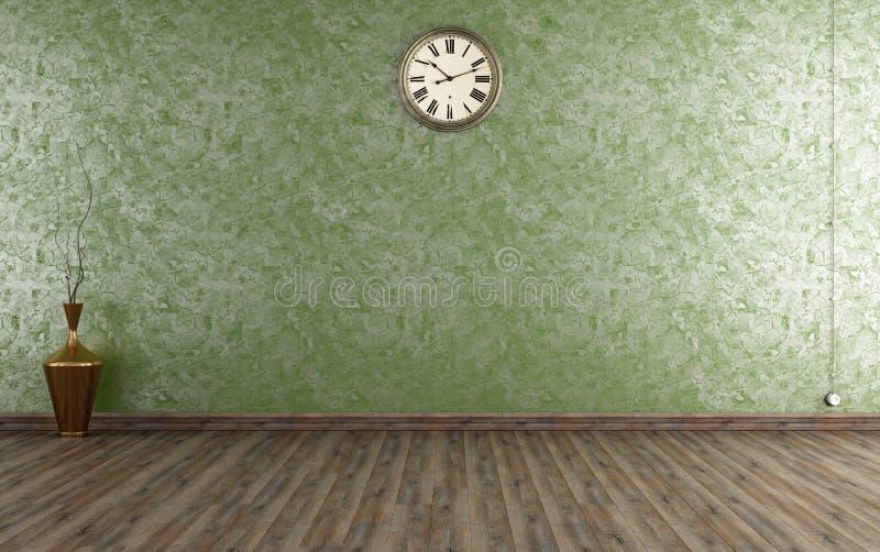 Sala do vintage com emplastro Venetian ilustração do vetor