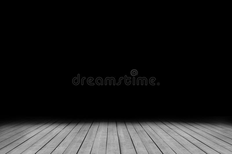 Sala escura do grunge da imagem com assoalho de madeira ilustração royalty free