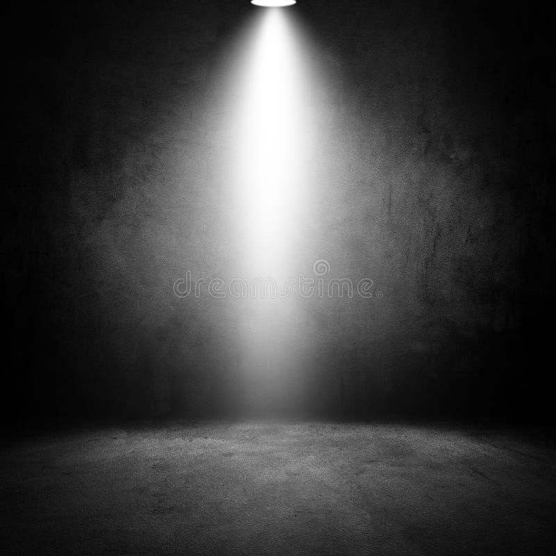 Sala escura do grunge velho dos efeitos da luz imagem de stock royalty free