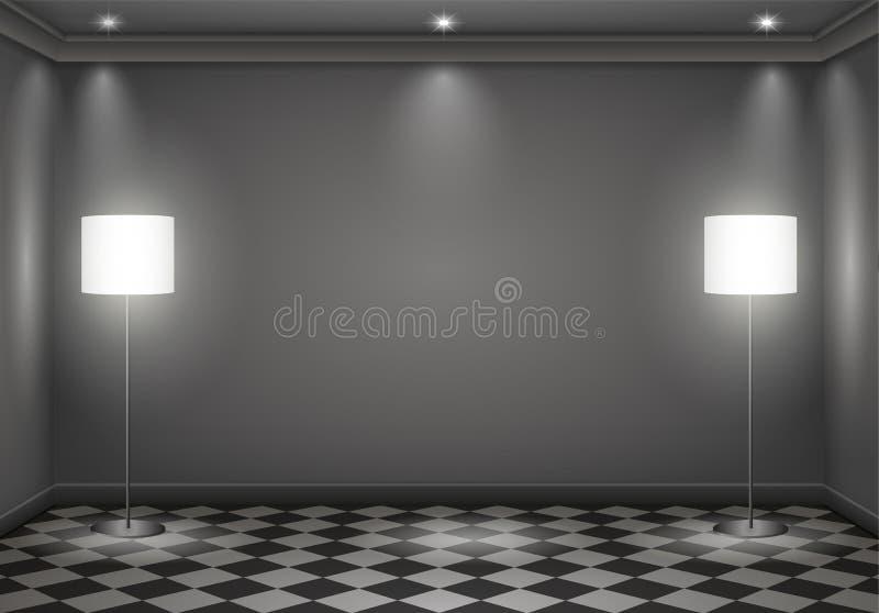 Sala escura interior ilustração do vetor