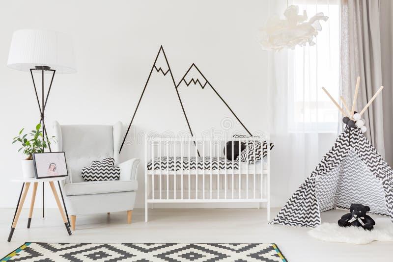 Sala funcional do bebê fotos de stock