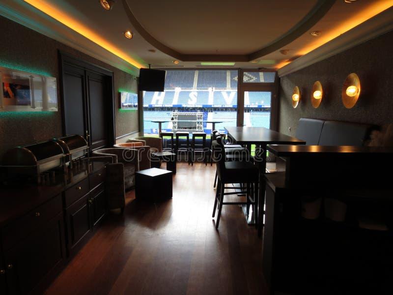 Sala HSV do VIP da arena do imtech de Hamburgo imagem de stock
