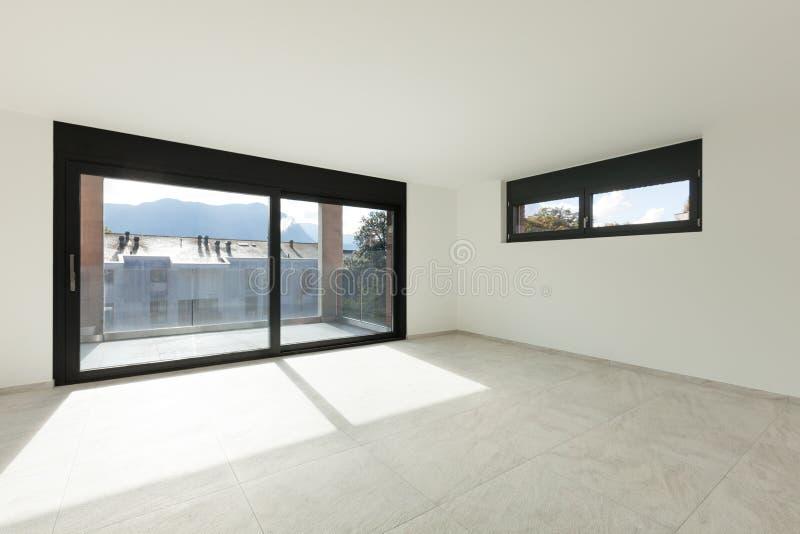 Sala interior, larga com balcão imagem de stock