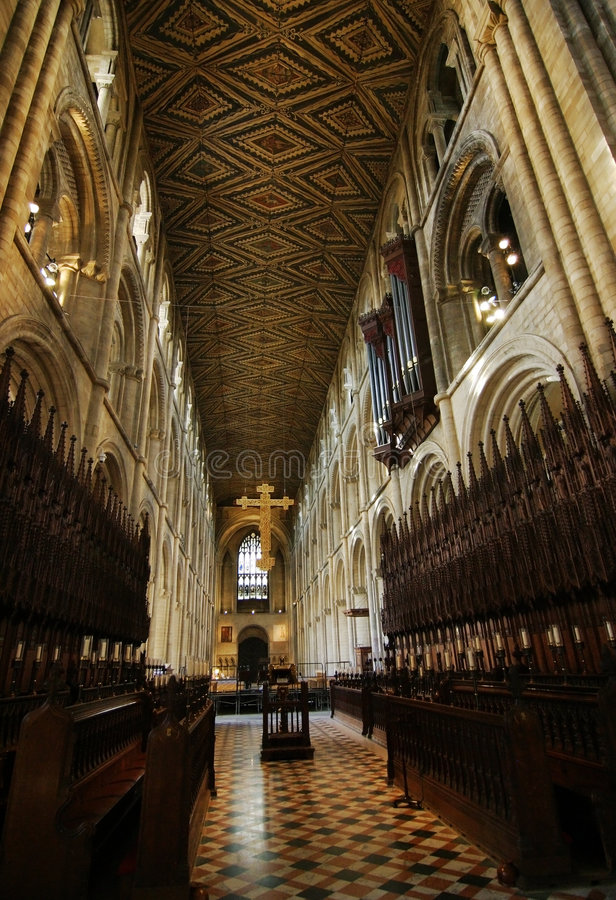 sala katedralna magistrala Peterborough obraz stock