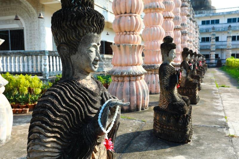 Sala Keoku, the park of giant fantastic concrete sculptures. Nongkhai, Thailand - April 29, 2017 Sala Keoku, the park of giant fantastic concrete sculptures stock image