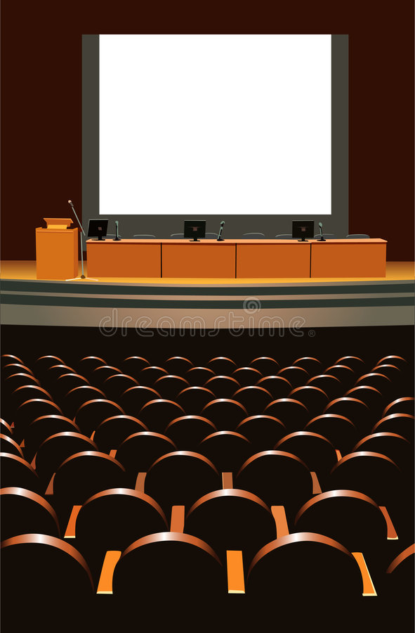 sala konferencyjna royalty ilustracja