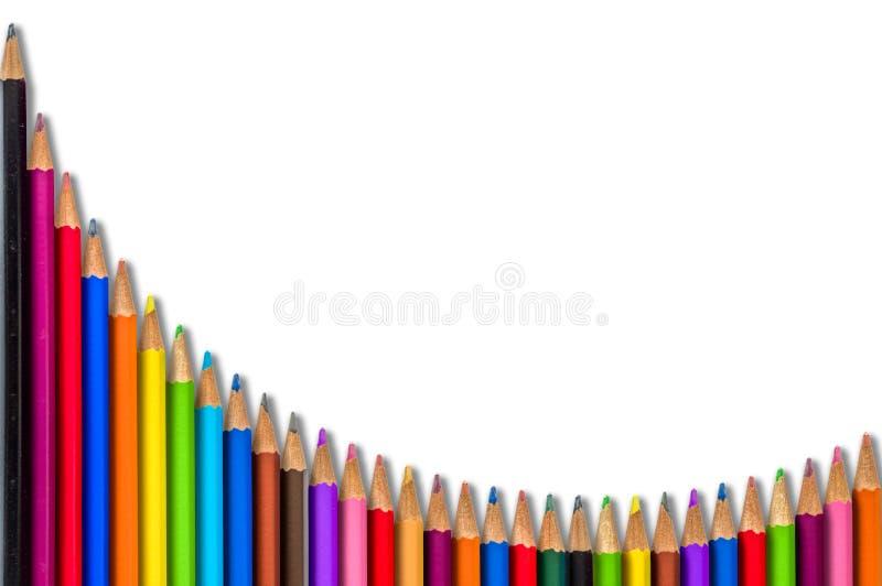 Sala lekcyjna Barwioni ołówki fotografia royalty free